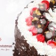 Decorated Christmas cake — Lizenzfreies Foto