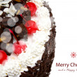 Decorated Christmas cake — Foto Stock