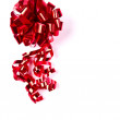 Bright red bow isolated over white background — Stock Photo
