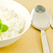 White steamed rice in a dish — ストック写真