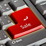 Computer keyboard - green key — Stock Photo