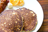 Breakfast pancakes — Stock Photo
