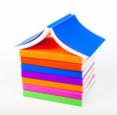 Colorful books Stack like home — Stock Photo