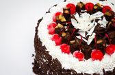 Decorated Christmas cake — Stock Photo