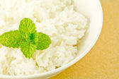 White steamed rice in a dish — Stock Photo