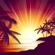 Tropical sunset — Vettoriali Stock