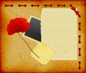 スクラップ ブックの背景 — ストックベクタ