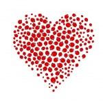 Ladybug heart — Stock Vector #8343812