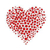 Ladybug heart — Stock Vector