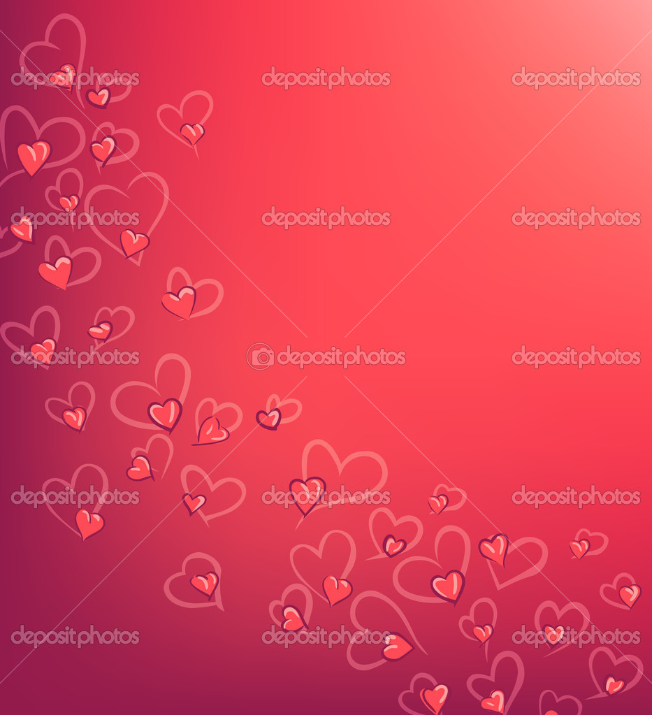 Pink valentine's day background with hearts — Stock Vector #8343804