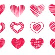 Hearts — Stock Vector #8372654