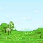 Spring landscape — Stock Vector #8386433