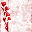 Stock Vector: Grunge Valentine day background