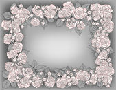 Frame of roses — Stock Vector