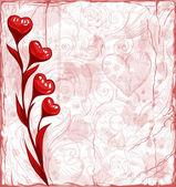Grunge Valentine day background — Stock Vector