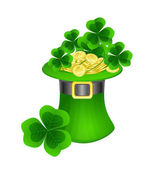 St. Patrick hat — Stock Vector