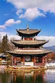 Lakeview torre en la provincia de yunnan heilong bronceado — Foto de Stock