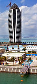 Modern tall building under construction in Phoenix Island Bay of — Stock Photo