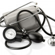 Medical sphygmomanometer and stethoscope — Stock Photo #10010058