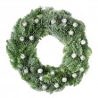 Christmas pine wreath — Stock Photo