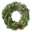 Christmas wreath with red berries — Stock Photo #8338048