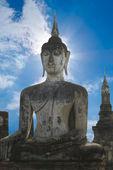 Stone Buddha with blue sky — Stock Photo