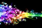 Colorful smoke and lights — Stock Photo