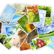 Stack of photos — Foto de stock #9416887