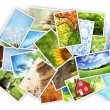Stack of photos — Stock Photo #9416887