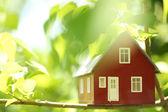 Huis in de bomen — Stockfoto