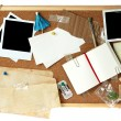 Stock Photo: Corkboard full of blank items for editing