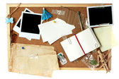 Corkboard full of blank items for editing — Stock Photo