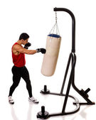 Heavy Bag Workout — Stock Photo