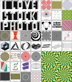 Illusion set of 37 images — Stock Vector