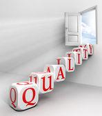 Quality conceptual door — Stock Photo