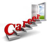 Career word on stair up to open door — Stock Photo