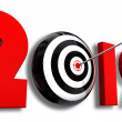 2012 new year and conceptual target — Stock Photo