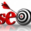 Seo red word and conceptual target - Foto Stock
