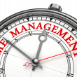 Stock Photo: Time management concept clock