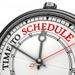Time to schedule concept clock — Stock Photo