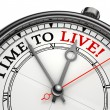 Stock Photo: Time to live concept clock