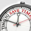 Time to save time concept clock — Stock Photo