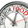 Stock Photo: Time for food concept clock closeup