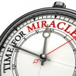 Time for miracles clock closeup — Foto Stock