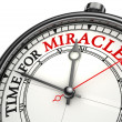 Time for miracles clock closeup — 图库照片