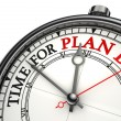 Stock Photo: Time for plan b concept clock