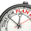 Stockfoto: Time for plan b concept clock