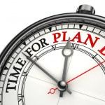 dags för plan b begreppet klocka — Stockfoto