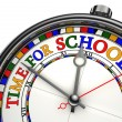 Time for school colorful concept clock — Stockfoto