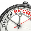 Stock Photo: Time for success concept clock